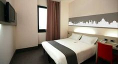 Contemporary rooms with excellent transport links at the *** B Hotel Roma Trastevere, Rome, Italy