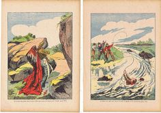 Art.FOUR Vintage book pagesFrench by studioflowerpower on Etsy, $15.00