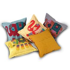 Big Elephant Designer Patchwork Cushion Covers Set 423
