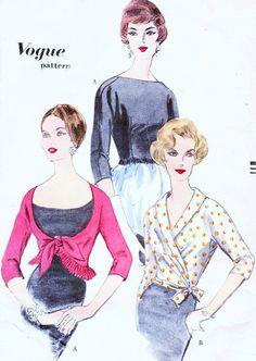 Vintage 1950s Vogue Sewing Pattern 9859