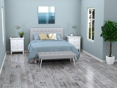 EcoForest Urban Gray Hand Scraped Solid Stranded Bamboo - x 5 - 100315597 Room Paint Colors, Paint Colors For Living Room, Living Room Grey, Home And Living, Grey Wood Floors, Grey Flooring, Bedroom Flooring, Home Bedroom, Bedroom Decor