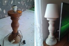 Shabby lamp, decoupage, chalk paint , Autentico