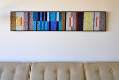vintage Evelyn Ackerman mosaic. A beautiful composition in brights and neutrals.