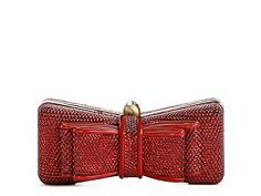 in silver - Lulu Townsend Sequined Bow Box Clutch