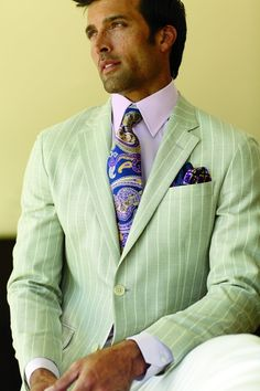 oh man. a pastel suit? I'm doubtful that would actually look good in real life.