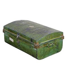 Take a look at this Rustic Green Vintage 1950s Iron Traveler's Storage Trunk on zulily today!