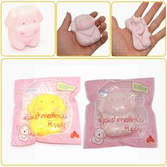 Kiibru Squishy New Marshmallow Puppy Slow Rising Original Packaging Collection Gift Decor Toy