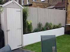 Image result for garden painted cream fence