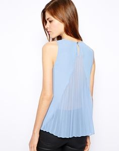 Image 1 of Warehouse Pleat Back Top
