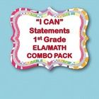 """You can purchase """"I CAN"""" statements for both ELA and MATH in this combo pack. Save money too!  Please see the descriptions of the packs in my store..."""