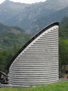 Church of San Giovanni Battista (St. John the Baptist). Mario Botta. 1994 -1996. Fusio, Switzerland.