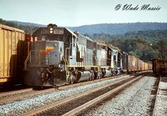 Seaboard System Railroad freight train with an SD50 leading