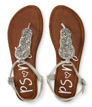 Kids' Beaded T-Strap Sandals PS From Aéropostale