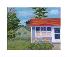 """Summer Rental"" - reproduction print of an acrylic painting by Barb Timmerman."