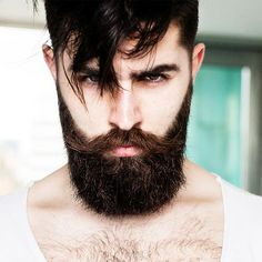 Model and blogger Chris John Millington's epic beard. Notice the English mustache that completes this groomed look.