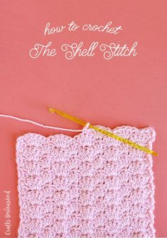 The Crochet Shell Stitch is a pretty stitch with lots of rich texture. It's simple to learn and great for many different types of crochet projects.