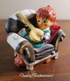 Goebel Charlot Byj Redhead Figurine Off Key Boy with Banjo Dog & Mouse #Goebel