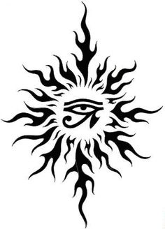 sun tattoo, Horus eye