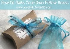 Crafty Video: DIY Handmade Pillow Boxes -- perfect to hold any small gift. By So Crafty contributor Jessica Barst. http://socrafty.squidoo.com/crafting/crafty-video-diy-handmade-pillow-boxes