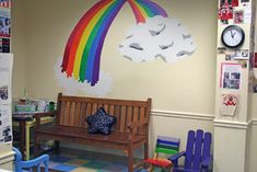 painting rainbows on wall of kids room - Google Search