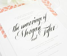 Calligraphy Names wedding invitations