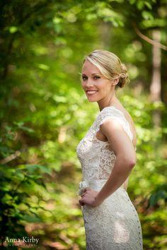 Classic Bride in Lace Wedding Dress - Brasstown Valley Wedding