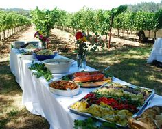 Buffet Table in the Napa Valley Wine Country