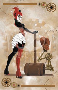 justharleyquinn: Steam Punk Harley Quinn by TracieCotta