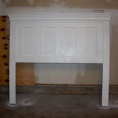 headboard - door with crown moulding painted