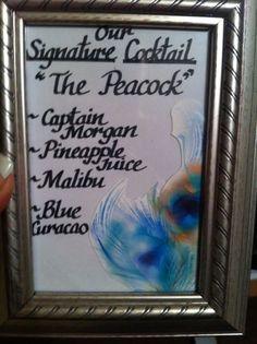 peacock wedding signature drink - Bing Images