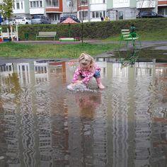 Никто так не радуется осенней погоде, как дети