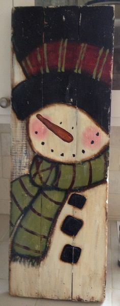 Pallet Frosty More Pallet Christmas, Primitive Christmas, Christmas Signs, Christmas Snowman, Rustic Christmas, Christmas Projects, Winter Christmas, Christmas Decorations, Christmas Ornaments