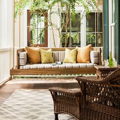 The Cypress Swing Bed is a must-have for long summer days. This piece of custom furniture is perfect for indoor/outdoor seating. Painting Wooden Furniture, Custom Furniture, Contemporary Furniture, Best Outdoor Furniture, Outdoor Sofa, Outdoor Living, Indoor Outdoor, Outdoor Seating, Outdoor Spaces