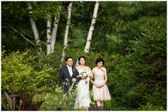 Yian is escorted through the Lawn Garden path by her parents before exchanging vows with Ray in July 2015.