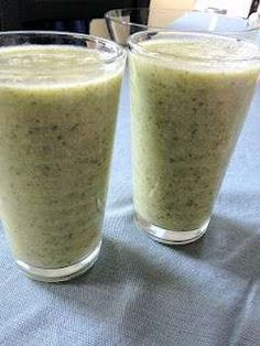 Banana Peach Spinach Smoothie - Add A Scoop Of Powdered Wheatgrass For Extra Health Benefits.