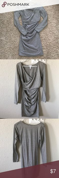 Dress Form fitting, cross cross front dress. Worn it to a dinner party once. Comfy. leith Dresses