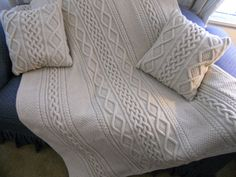 Knit Pillows / Blanket