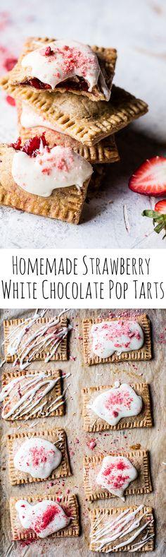 Homemade Strawberry White Chocolate Pop Tarts | halfbakedharvest.com @hbharvest