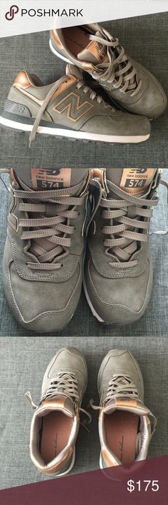 Rare New Balance Precious Metals 574 Gray and Rose Gold Precious Metals 574s. Very rare and hard to find. Size 9. In EXCELLENT used condition, only worn to an indoor venue once. I paid well over retail for these, and they were hard to find, priced accordingly. Smoke/pet free home. No box. New Balance Shoes