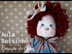 Rostinho de Boneca com Lápis de Cor - Téc. Atelier Coração de Pano - YouTube
