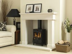 Buy online - See our The Balmoral Limestone Fireplace Surround - Price: - Part of our Range Stone Fireplace Surround, Fireplace Surrounds, Snug Room, Fireplace Suites, Log Burner Living Room, Wooden Fireplace, Limestone Wall Interior, Living Room Themes, Fireplace
