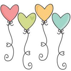 Heart Balloons SVG scrapbook cut file cute clipart files for silhouette cricut p. - Heart Balloons SVG scrapbook cut file cute clipart files for silhouette cricut pazzles free svgs fr - Doodle Drawings, Easy Drawings, Doodle Art, Silhouette Design, Cricut, Cute Clipart, Heart Balloons, Cute Cuts, Stick Figures
