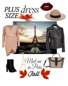 """""""Meet me in Paris"""" by beautifulbygia on Polyvore featuring Barbara Bui, Anine Bing, Lancel, Wilsons Leather, Boohoo, WallPops and Lime Crime"""