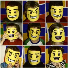 it's a good thing lego faces have changed in the last 10 years. otherwise these lego party faces would be really boring. Lego Movie Party, Lego Birthday Party, Boy Birthday Parties, 7th Birthday, Lego Parties, Birthday Ideas, Lego Party Games, Lego Party Favors, Lego Ninjago