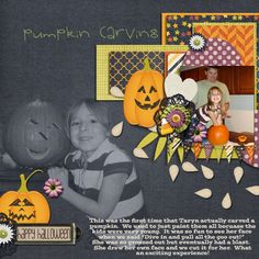 Layout by MelissaKay using Not Too Spooky Digital Scrapbooking Kit by Simple Girl Scraps