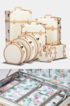 Luggage Sets Cute, Luxury Luggage, Louis Vuitton Luggage, Travel Bags For Women, Vintage Luggage, Travel Wardrobe, Travel Accessories, Luggage Bags, Bag Making