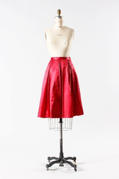 1950s skirt medium / 50s red pleated skirt  Royal by TheParaders, $58.00