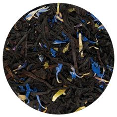 Bluest Blueberry - As fresh as blueberry pie and just as juicy. Excellent over ice. Ingredients: Black tea, cornflower petals, blackberry leaves, natural blueberry flavor. Tea-Ninja.com