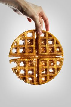 Crispy Malt Waffles