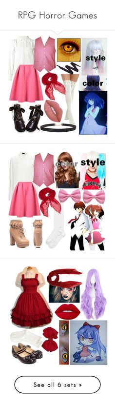 """""""RPG Horror Games"""" by dappershadow ❤ liked on Polyvore featuring See by Chloé, WithChic, Wigs2You, Faliero Sarti, Humble Chic, Urban Decay, Kate Spade, Leg Avenue, Hue and M Missoni"""